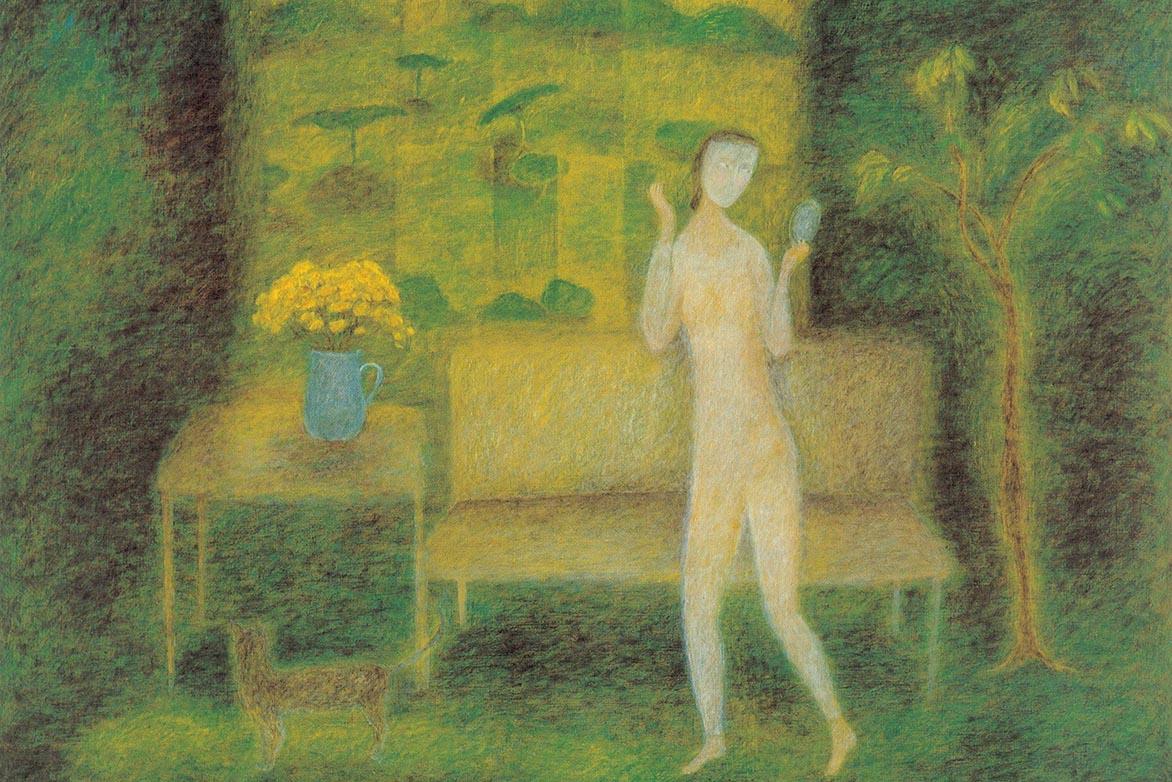 金芬華 遊於室 油彩畫布 91x116.5cm