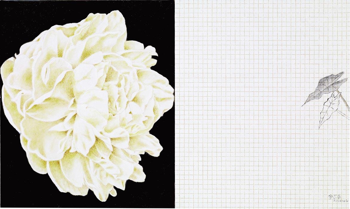 金芬華 對語III 油彩畫布 45.5x76cm