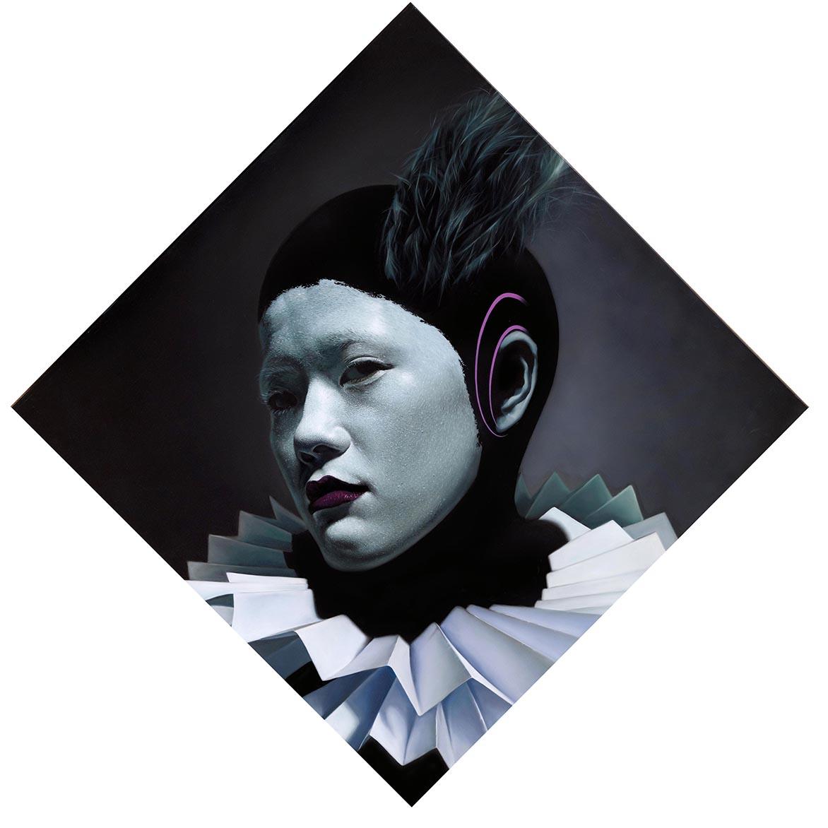 林宏信 夜的女王 油彩、丙烯、畫布 155x155cm