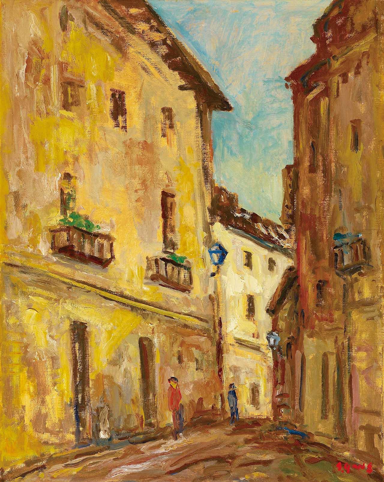 楊三郎 西班牙小巷 油彩畫布 95x72.5cm