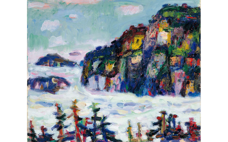 廖繼春 雲海(阿⾥山) 1973 油彩畫布 45.5×53cm