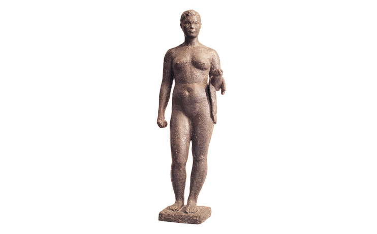 陳夏⾬ 浴⼥ 1960 ⻘銅 54.5×18.2×12.7cm