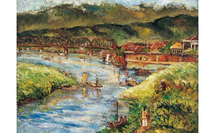 陳澄波 臺北橋 1933 油彩畫布 49×63.5cm