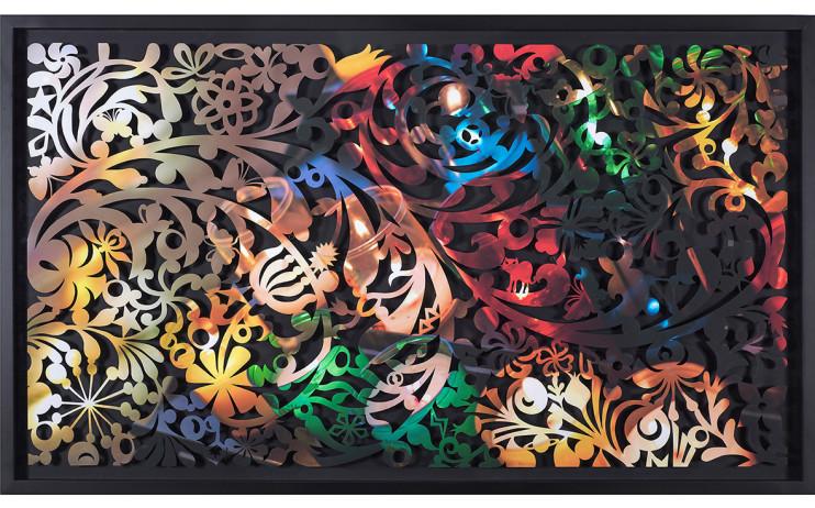 吳耿禎 影像剪紙系列—悟透色彩 Photo-Cutting Collection — A Realization of Colors 宣影布輸出 100x180cm 共三版+1AP