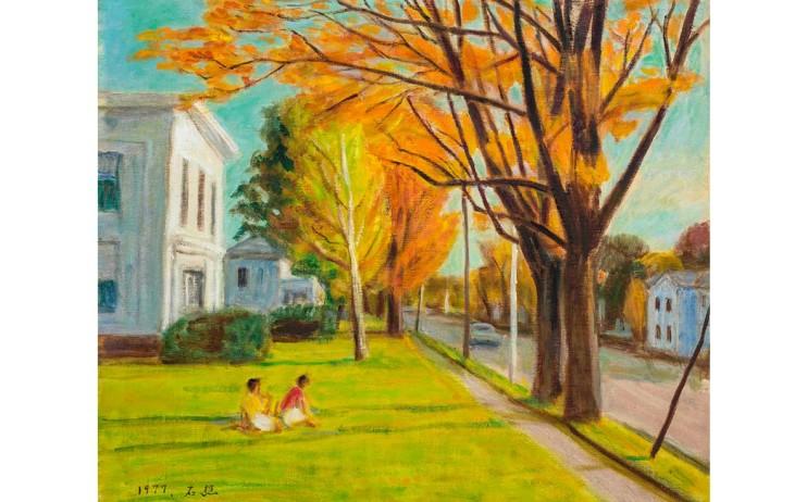 李石樵  芝加哥街景 1977 油彩畫布  45.8×53.4cm (10F)