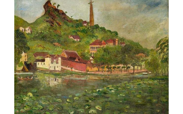 陳澄波  西湖塔景 年代不詳 油彩畫布  60×77cm (20F)