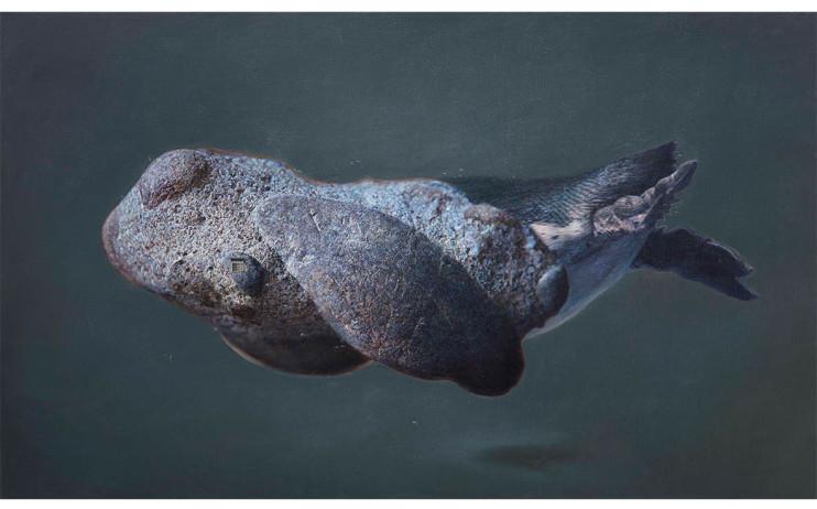 傅浩軒  北極匿聲 2015 油彩畫布  97×162cm