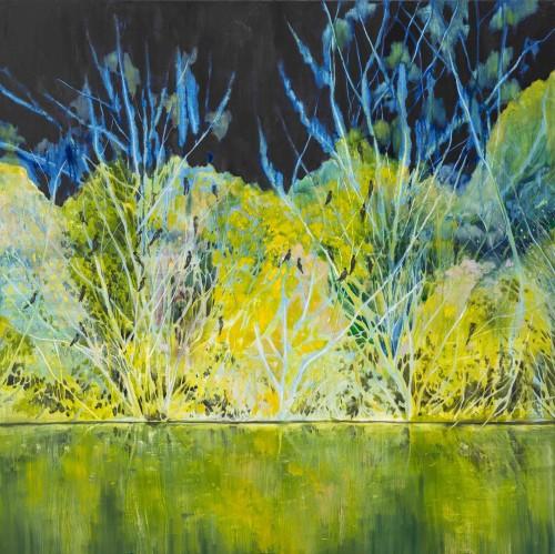 許常郁  夜幕下的交談 2015 油彩、畫布  100×100cm