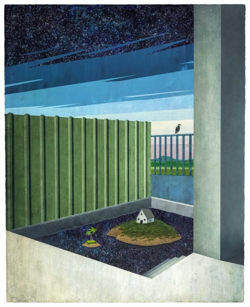 胡朝聰  家屋—私人島嶼 2015 壓克力、畫布板  162×130cm