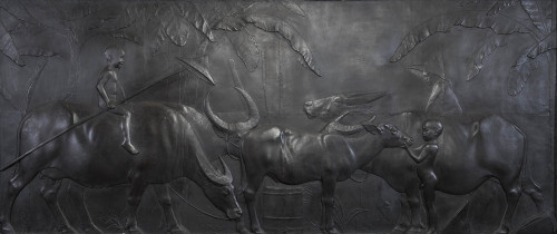 黃土水  水牛群像  1930 石膏 250x555cm