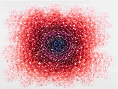 徐薇蕙  笑顏如花-燦 7 2015 複合媒材  151.5×201.5×14.5cm (含壓克力罩)