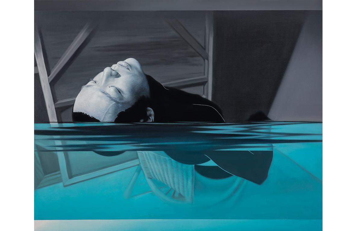 林宏信 泅泳者 I 2015 油彩、畫布 130.5×162.5 cm