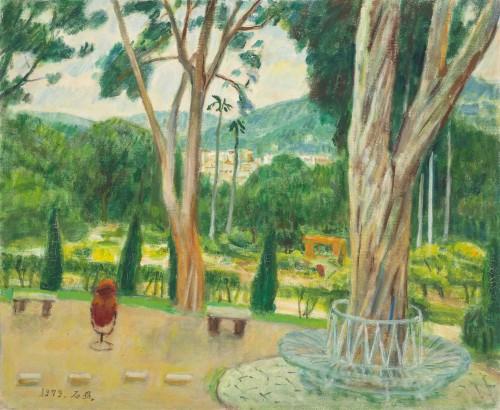 李石樵  北投公園 1979 油彩畫布  50.2×60.9cm (12F)