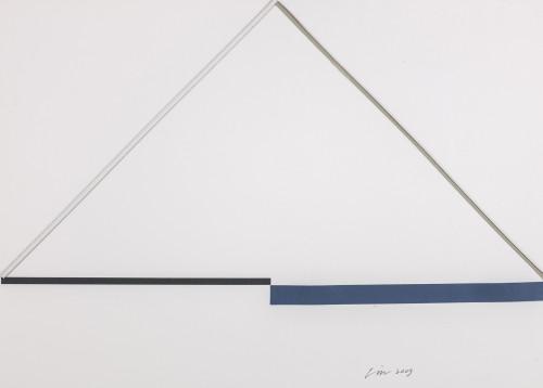 林壽宇 紙上作品 2007 複合媒材 39.5×55.5cm 63×78.5×6cm (含框)