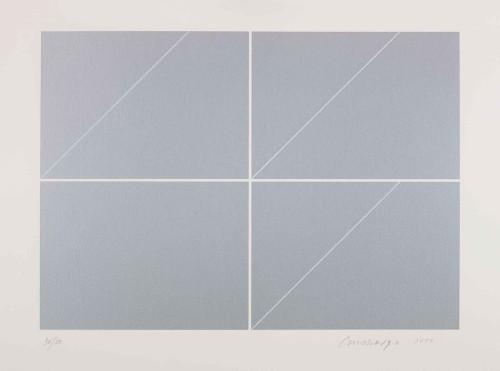 林壽宇 構成-灰 2010 版畫 73.5×104.5cm 87×117×6cm (含框) ed.30/30