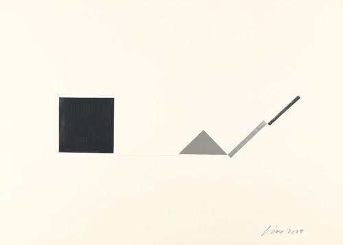 林壽宇 紙上作品 4 2008 複合媒材 39.5×55.5cm 63×78.5×6cm (含框)