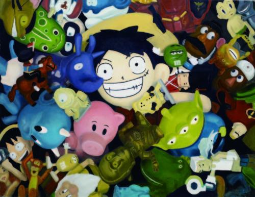 王建揚 不管怎樣都要繼續保持微笑 2008 油彩、畫布 111.5x145.5cm