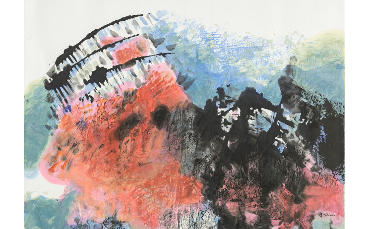 李重重  無休止的天空  2014  水墨設色、紙本  90.3x121.5cm