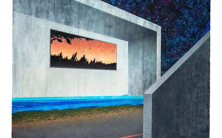 胡朝聰  家屋—私樂園  2016  壓克力、畫布板  150.5x200.5cm