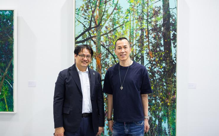 尊彩藝術中心董事長余彥良、化妝造型設計師 Roger