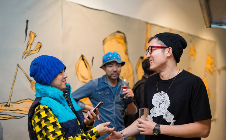 左起:藝人黃子佼與藝術家Candy Bird