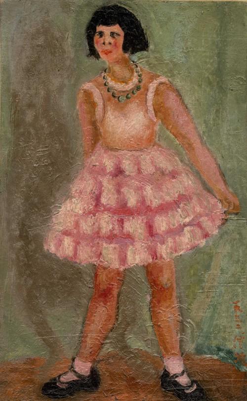 陳澄波  少女舞姿 1932 油彩畫布  53×33cm (10M)