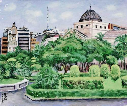 陳慧坤 台北二二八公園 1996 油彩畫布 61×73cm 74.5×86.2cm(含框)