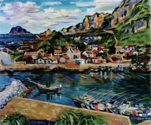陳慧坤 野柳 1964 油彩畫布 60.8×72.6cm 78×90cm(含框)