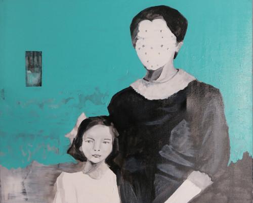 陳依純 母親隱形的愛 2018 壓克力、畫布 65×80cm