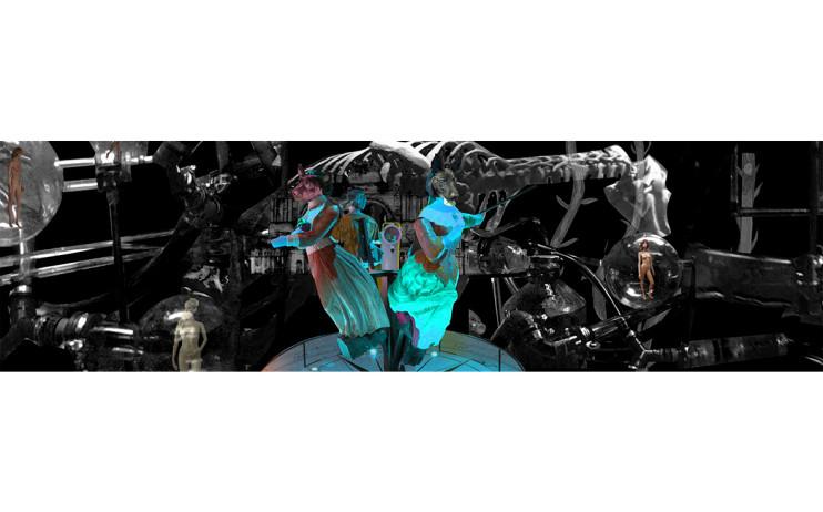 陳依純  你夢見電子羊了嗎  2016  雙螢幕投影影像彩色有聲  10min