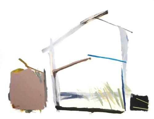 莊東橋 家屋之夢 001  2012 壓克力畫布 112x145.5 cm