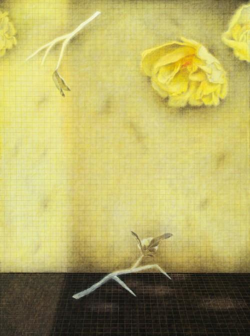 金芬華 對語 油彩畫布 130x97cm