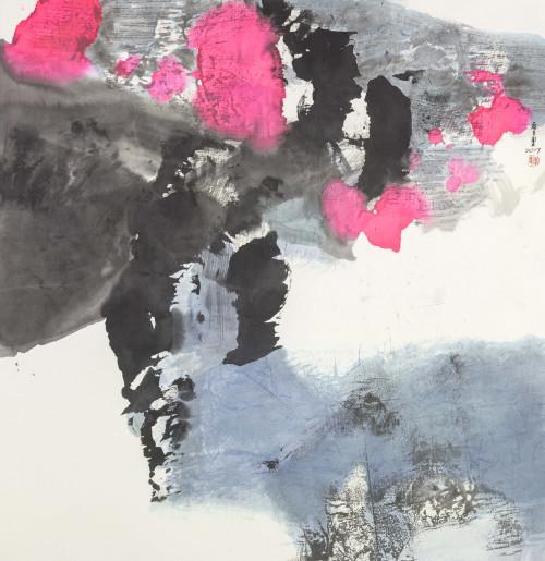 李重重  微風的往事  2017  水墨設色、紙本  69×68cm