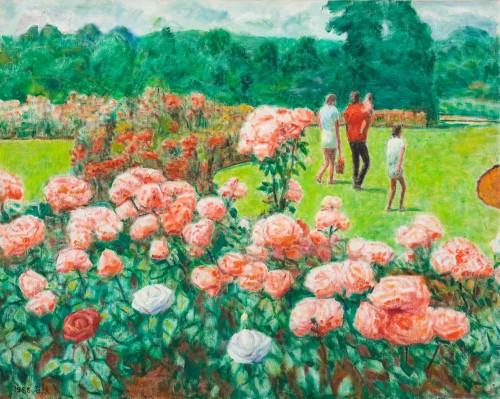 李石樵 玫瑰花園 1988 油彩畫布 72.5x91cm(30F)