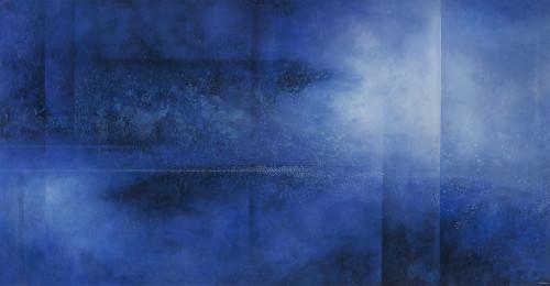 王建文  觀星者系列 III-洋  2017 油彩畫布 102x198.5cm