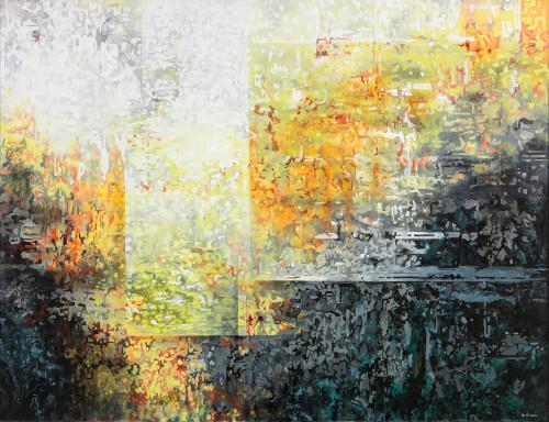 王建文  觀星者系列-森林21:00  2017  油彩畫布   89x116cm