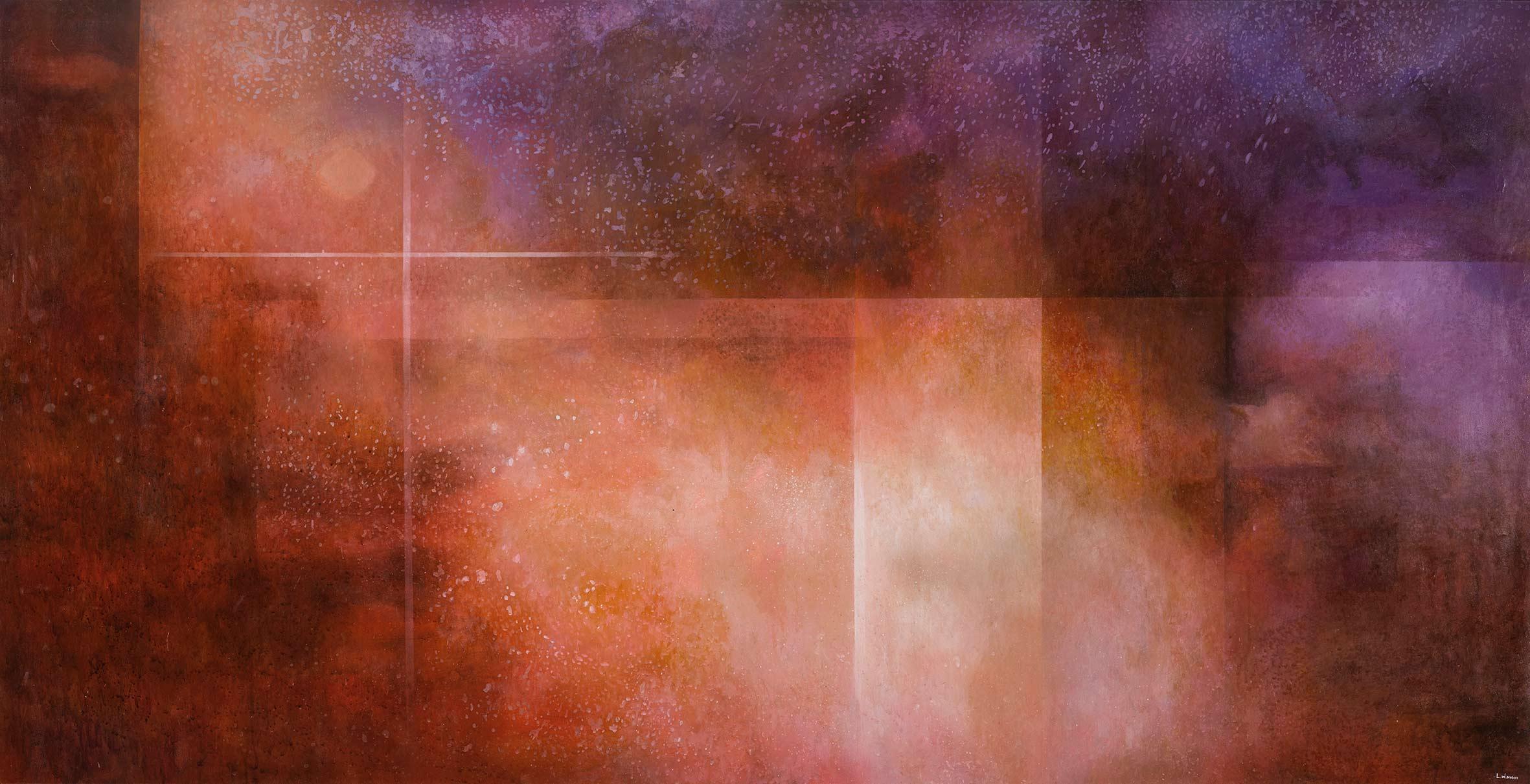 王建文  觀星者系列IV—炙 2017 油彩畫布  102x198.5cm