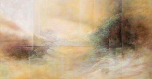 王建文   觀星者系列III—光  2016  油彩畫布   102x198.5cm