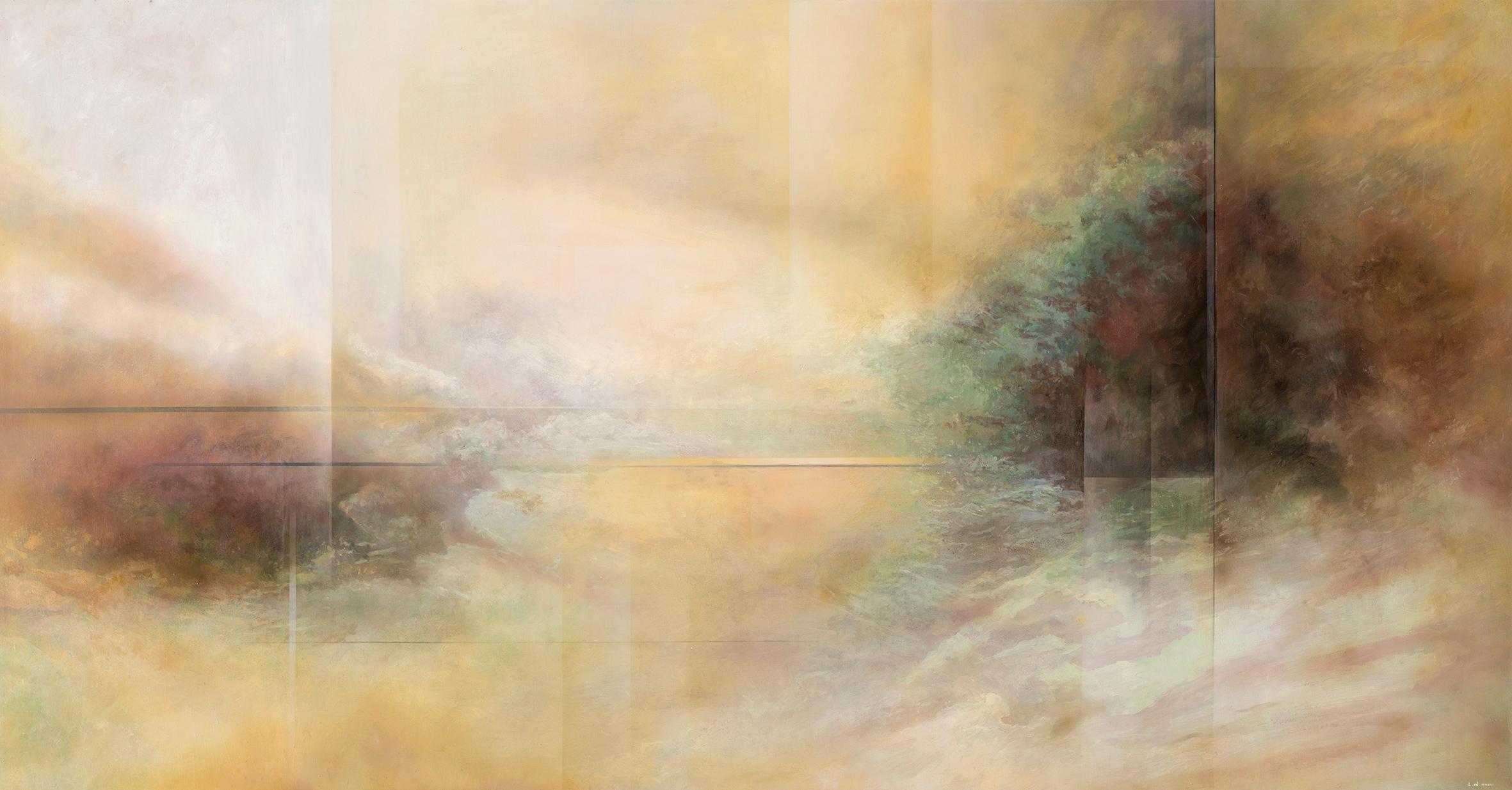 王建文  觀星者系列III—第2次文藝復興 2017 油彩畫布  161x258cm