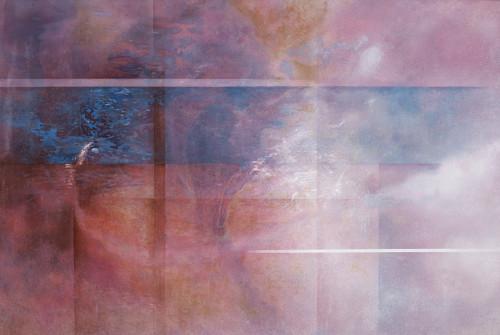 王建文  觀星者系列 I-遠行  2017 油彩畫布 97x145cm