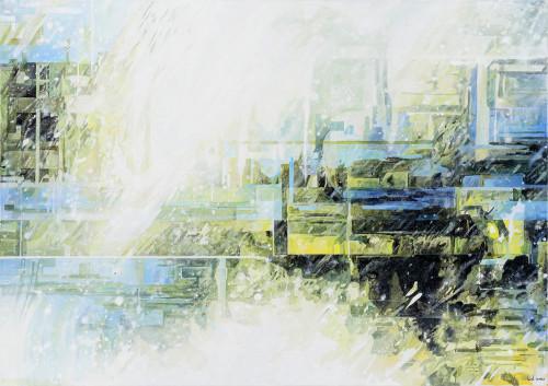 王建文  一縷滯留系列 - M2  2019  油彩畫布  65x92cm
