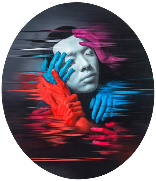 林宏信 愛與憂 2016 油彩畫布  210.5x182.5cm