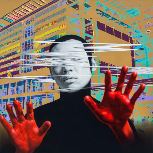 林宏信 微量裂解VI 2017 油彩畫布  155×155cm
