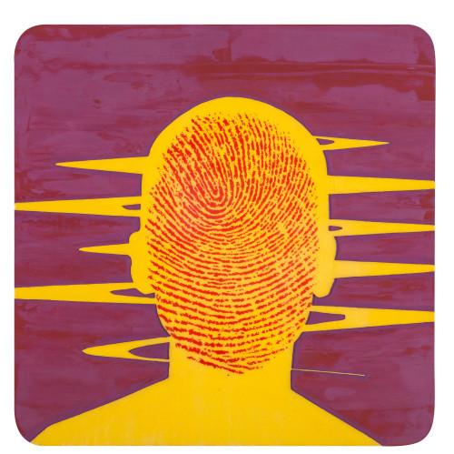 林宏信 裂解人肖像III 2016 油彩畫布  60×60cm(18S)