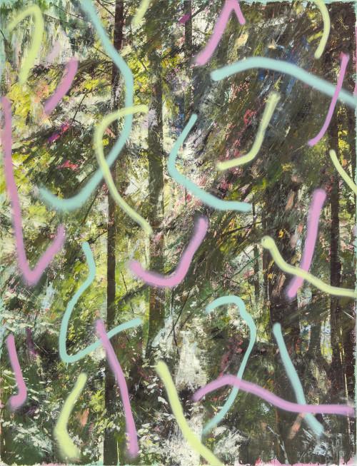 許常郁  無題33  2017 油彩、壓克力噴漆、畫布 170x130cm