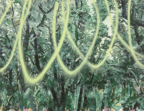 許常郁 無題24 2017 油彩、壓克力噴漆、畫布 100x130cm