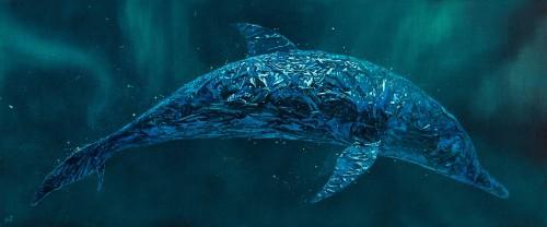 嚴靖傑 漂流系列:新型態生命1 2017 油彩畫布 50x120cm
