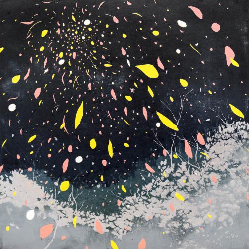 游雅蘭  你隨風來 2015 版畫/木刻油印凸版 45x45cm