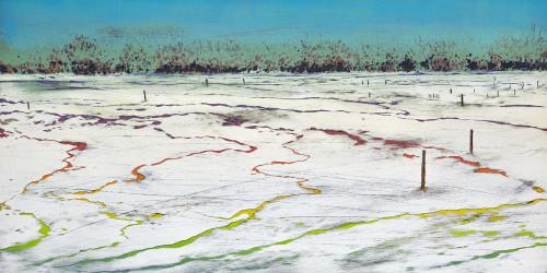 游雅蘭   Landscape-1  2017  版畫/油印木刻凸版   30x60cm