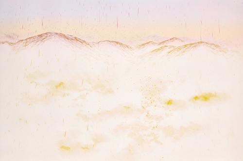 游雅蘭   粉色山脈  2018  版畫/油印木刻凸版   60x90cm